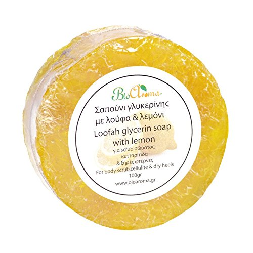 Luffa Seifen mit Ätherischen Ölen / Zitrone / 100gr Exfoliating loofah glycerin soap. lemon (Luffa Seife)