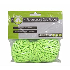 51Q7LALf2xL. SS300  - Yellowstone High-Vis Guy Ropes - Yellow, 4 Pack