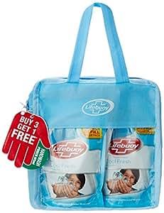 Lifebuoy Cool Fresh Hand Wash Combo Pack - 185 ml (Buy 3 Get 1 Free)