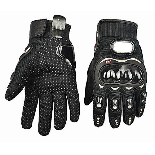 HLOEC Knight Motorcycle Racing Gloves Guanti da Ciclismo per Moto con equipaggiamento Protettivo per Honda KTM Kawasaki Yamaha, Nero, M