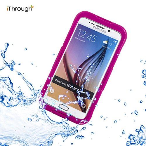 Galaxy S6 Edge Plus Hülle, iThrough™ Galaxy S6 Edge Plus Wasserdichte Hülle, Staubdicht, Schneedicht, Stoßdichte Hülle, Schwierige Pflicht tragende Decke, Wasserdichte Hülle für Galaxy S6 Edge Plus Rosenrot