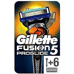 Gillette Fusion ProGlide Maquinilla de Afeitar + 5 Recambios, Paquete Apto para el Buzón de Correos