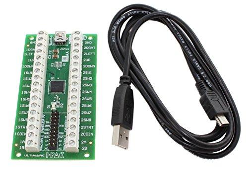 i-Pac 2Arcade Game Controller Interface mit USB-Kabel -