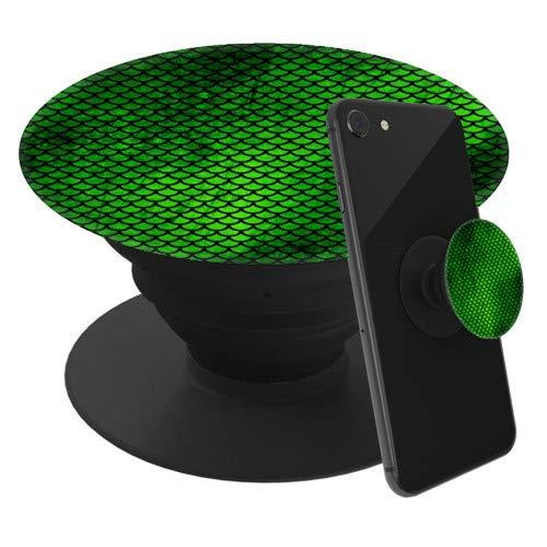 renhouz [2 Pack] Soporte para teléfono expandible, empuñadura para teléfonos Inteligentes y tabletas Escamas de Sirena Verde