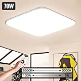 LVWIT Lámpara de Techo LED Regulable, 70W equivalente a 420W, Plafón LED de 5600 lúmenes, Color regulable desde 3000K hasta 6500K.
