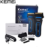 KM Kemei KM-2016 Men's Rechargeable Reciprocating Double Blade Electric Shaver Razor Groomer Wet & Dry Use