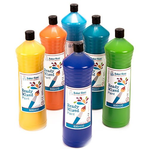 ready-mixed-paint-pack-b-600-ml-6-assorted-colours-water-based-paint-for-childrens-painting-crafts-p