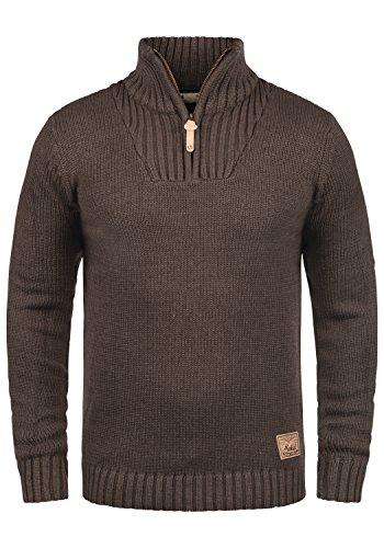 !Solid Petro Herren Winter Pullover Strickpullover Troyer Grobstrick...