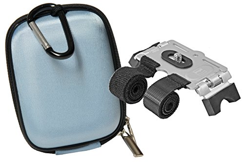 Progallio Sparset Hardbox KOMPACT blau Tasche im Set mit Klett-.