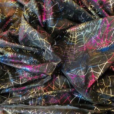 Netzstoff für Halloween – Spinnennetze Metallic – NET01 – Meterware