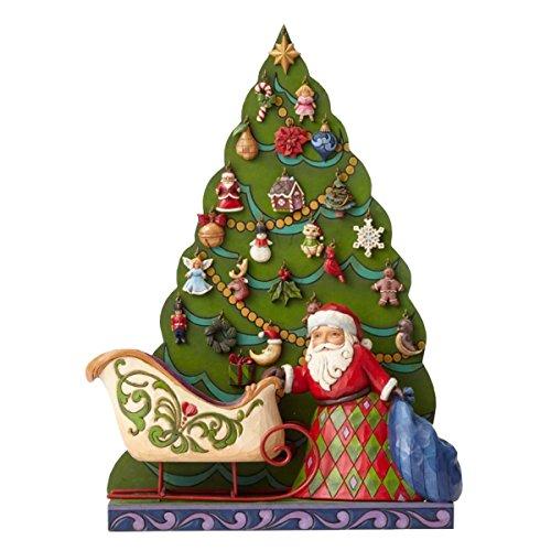Enesco 4053717 hwc babbo natale calendario dell'avvento, pvc, multicolore, 19x25x30 cm