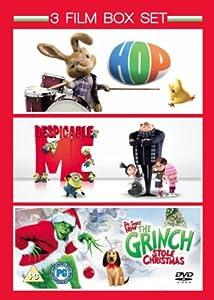 3 Film Box Set: Hop / Despicable Me / The Grinch [DVD]
