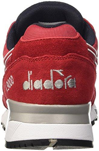 Diadora N9000 Nyl Ii, Scarpe Low-Top Uomo Rosso (Rosso Peperoncino/Nero Fumo)