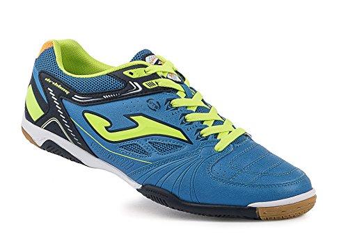 Joma Dribling 604 Azul-Fluor-Marino Indoor, Chaussures de Football en Salle Homme Bleu