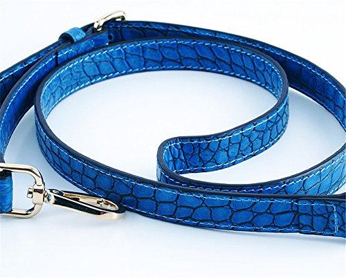 Fashion Handtaschen Square Krokodil schräg Xinmaoyuan Abschnitt Tasche Farbe horizontalen Blau Single Damen Schulter Casual Muster Blau Frauen reine Handtasche Z0qwA5Sw