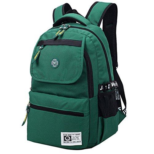 Super moderno Unisex in Nylon impermeabile zaino escursionismo zaino borsa sport zaino Laptop, Uomo donna Bambino, Lake Blue, 36-55L Green