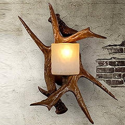 American style industriel bois rustique lampe murale Iron black retro style fashion Nordic bois résine antique cafe bar lampe lampe murale moderne lampe murale loft minimaliste creative industries