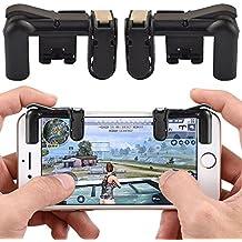 Tianu Mando de juegos para teléfono móvil, controlador de juego, Smartphone abrazadera de juego con botón de disparo Aim Key L1R1 disparador controlador para PUBG, Fortnite, Normas, juego de supervivencia