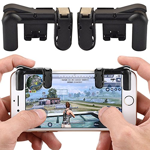 Mando de juegos para teléfono móvil Tianu, controlador de juego, Smartphone abrazadera de juego con botón de disparo Aim Key L1R1, disparador, controlador para PUBG, Fortnite, Normas, juego de supervivencia