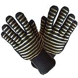 Gants de gril de barbecue de gant de silicone isolés par des gants résistants à la chaleur avec un gant de 14 'de long pour la résistance à la chaleur pour barbecue avec une cheminée de cuisson