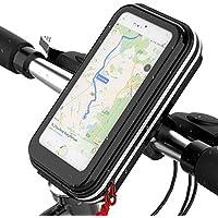 Soporte de bicicleta para teléfono móvil Lovicool, antigolpes, para evitar caídas, abrazadera con rotación de 360 mm, bolsa de teléfono móvil impermeable por debajo de 16 cm., Universal Phone Holder
