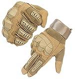 HIKEMAN Touchscreen-Handschuhe für Männer und Frauen, Harte Knöchelhandschuhe für Jagd, Schießen, Motorrad, Radfahren, Wandern, Holzbau Schwerindustrie - Khaki - m