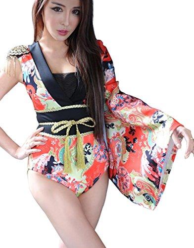 DuuoZy Frauen Sexy Single Ärmel japanischen Stil unregelmäßige Kimono Cosplay , m (Japanische Cosplay Kostüme Uk)