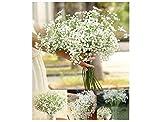 Landsell Schleierkraut künstlich und weißen Blüten 40cm Kunstpflanzen