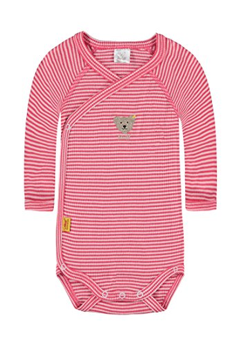 Steiff Baby-Mädchen Body 1/1 Arm, Rot (Paradise Pink 2024), 68