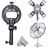 Fomito S-Type III Bowens Mount Speedlight Bracket for Flashlight Softbox Octobox Beauty Dish Snoot and Reflective Umbrella