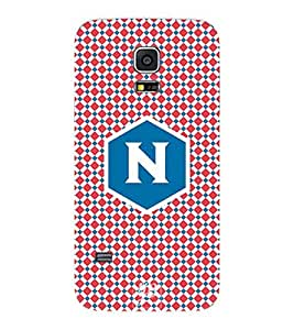 YuBingo Designer Printed Plastic Mobile Back Case Cover Panel for Samsung Galaxy S5 Mini ( Nice Letter N (Stylish Colourful Check Pattern Printed on Plastic) )