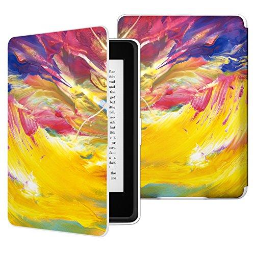 MoKo Kindle Paperwhite Hülle - Ultra Leightweight Schutzhülle Smart Cover mit Auto Sleep/Wake Funktion für Alle Kindle Paperwhite (2016/2015 / 2013/2012 Modelle mit 6 Zoll Bildschirm), Farbiger Himmel