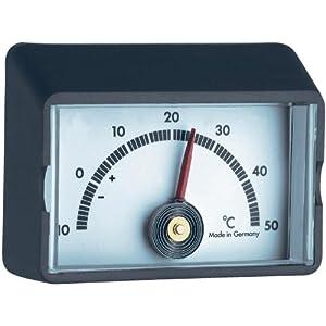 TFA Selbstklebend Thermometer 19.2010 Schwarz