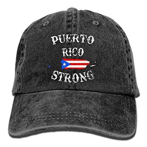 Hat New Unisex Puerto Rico Strong Cotton Denim Baseball Cap Adjustable Cricket Cap for Men Or Women -