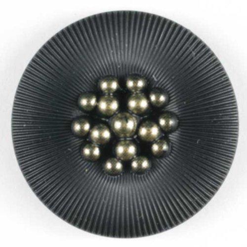 3 Stück: Modeknopf - Größe: 18mm - Farbe: schwarz