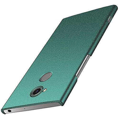anccer Sony Xperia XA2 Hülle, [Serie Matte] Elastische Schockabsorption und Ultra Thin Design für Sony Xperia XA2 (Nicht für Sony Xperia XA2 Ultra)-Kies Grün