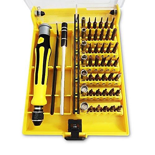 Schraubendreher Set, Onlyct 45 in 1 Präzision Magnetische Schraubendrehersatz Werkzeugset mit 42 Bits Portable Elektronik Reparatur Tool Kit für Handy, PC, Macbook, Tablet, Uhr etc