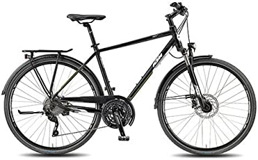 KTM Herren Fahrrad 28 Zoll schwarz Veneto Light Disc Trekkingrad - Shimano Schaltung, Suntour Federgabel, Nabendynamo