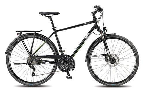 KTM Herren Fahrrad 28 Zoll schwarz Veneto Light Disc Trekkingrad - Shimano Schaltung, Suntour Federgabel, Nabendynamo (Disc-trekkingrad)