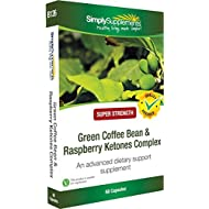 SimplySupplements Complexe Café Vert et Cétone de Framboise| Pour l'énergie|60 capsules