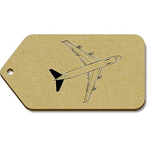 10 x Large 'Jumbo Jet' Wooden Gift / Luggage Tags (TG00011603)