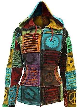 Shopoholic Fashion Women Pixie Hippie Emo Gothic Hoodie Hippy Sweater Boho Cardigan (2XL)