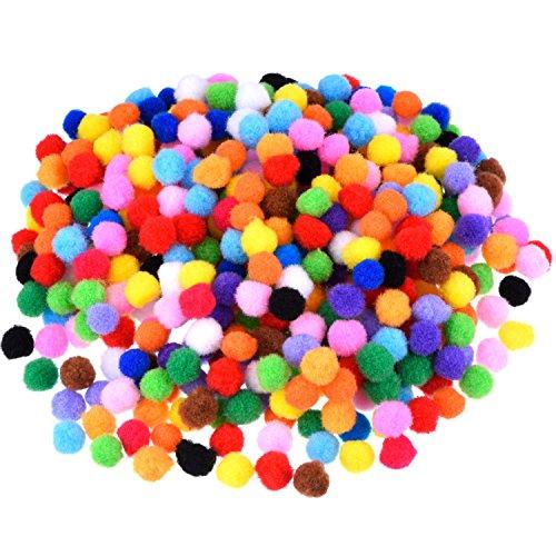 Blulu Pompons für Handwerkmachen und Hobbybedarf, 500 Stück 0,5 Zoll, vielfärbig (Diy Kostüme Für Kinder)