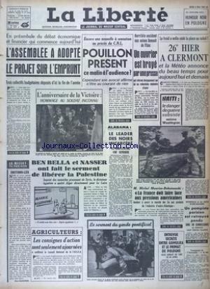 LIBERTE (LA) [No 5975] du 09/05/1963