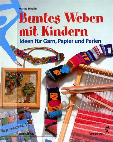 Buntes Weben mit Kindern