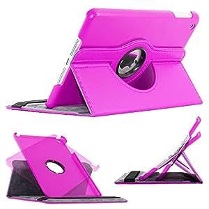 ebestStar - pour Apple iPad Mini 1, Mini 2, Mini 3 - Housse Coque Etui PU cuir Support rotatif 360° + Film, Couleur Violet [Dimensions PRECISES de votre appareil : 200 x 134.7 x 7.2/7.5 mm, écran 7.9'']
