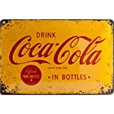 Nostalgic Art Coca Cola Logo Yellow - Placa decorativa, metal, 20 x 30 cm, color amarillo y ...