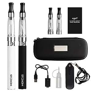 sigaretta elettronica kit completo HOKCUS EGO-T CE4 1100mAh 2.0 Ohm Nessuna nicotina (nero +bianco)