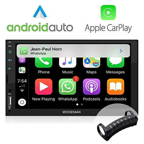 Woodman SAY MP5 Car Music Player with Voice Control #JustSayIt (SAYi Pro (Android Auto + Car Play)+Steering Remote)