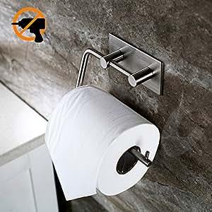 kitlit edelstahl toilettenpapierhalter klopapierhalter selbstklebend ohne bohren wc bad. Black Bedroom Furniture Sets. Home Design Ideas